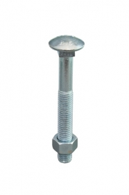 M10 Cup Head Bolts Zinc Plated