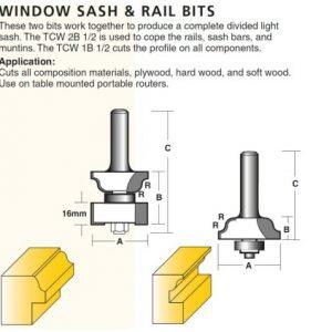 Window Sash & Rail Router Bits