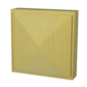 95x95x35mm Pyramid Architrave Block Pine