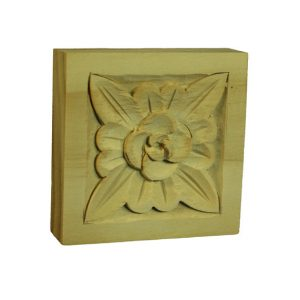 Square 70x70x19mm Timber Carving