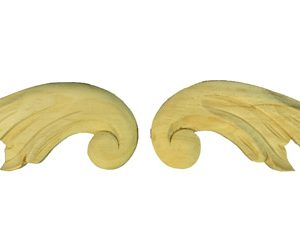 Leaf Pair 70x220x12mm Timber Carving
